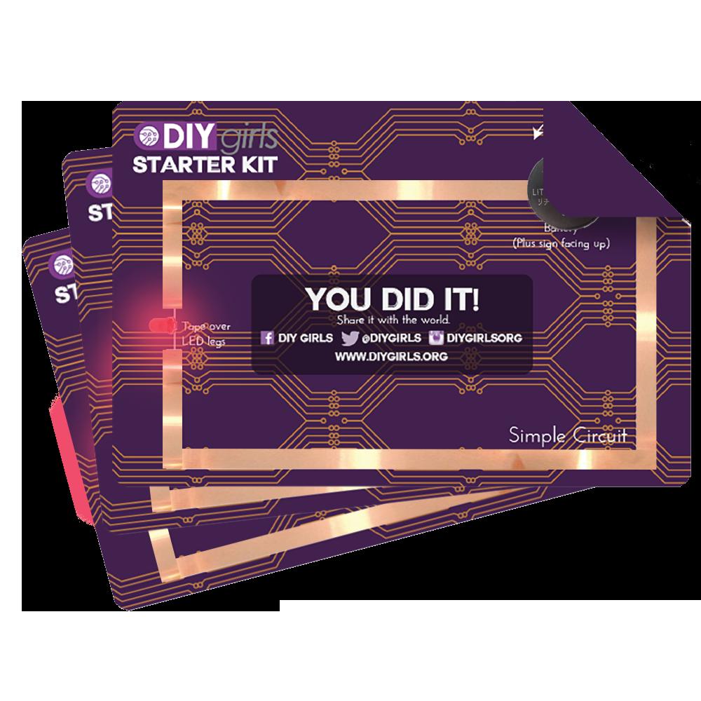 Paper Circuit Starter Kits 10 Pack Diy Girls Electronics Design Projects Kit