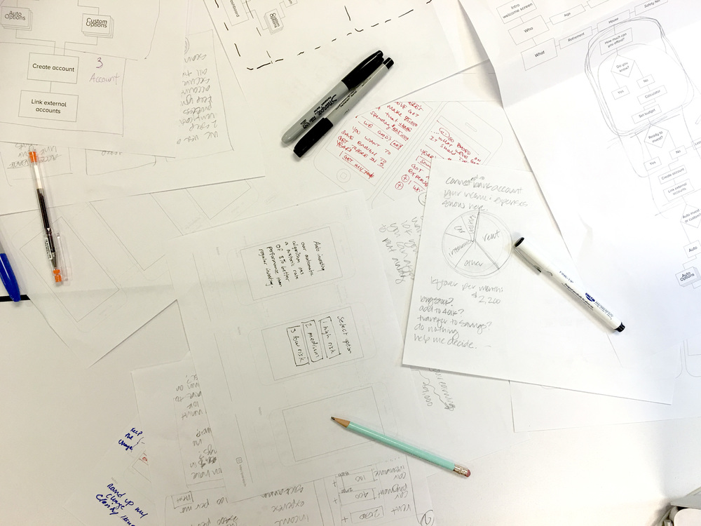Having a design studio exercise helped us find out the user flow, and anticipate needs.