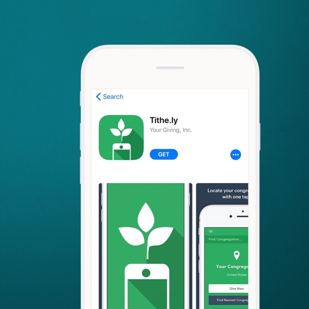 Give through the MOBILE APP using Tithe.ly.