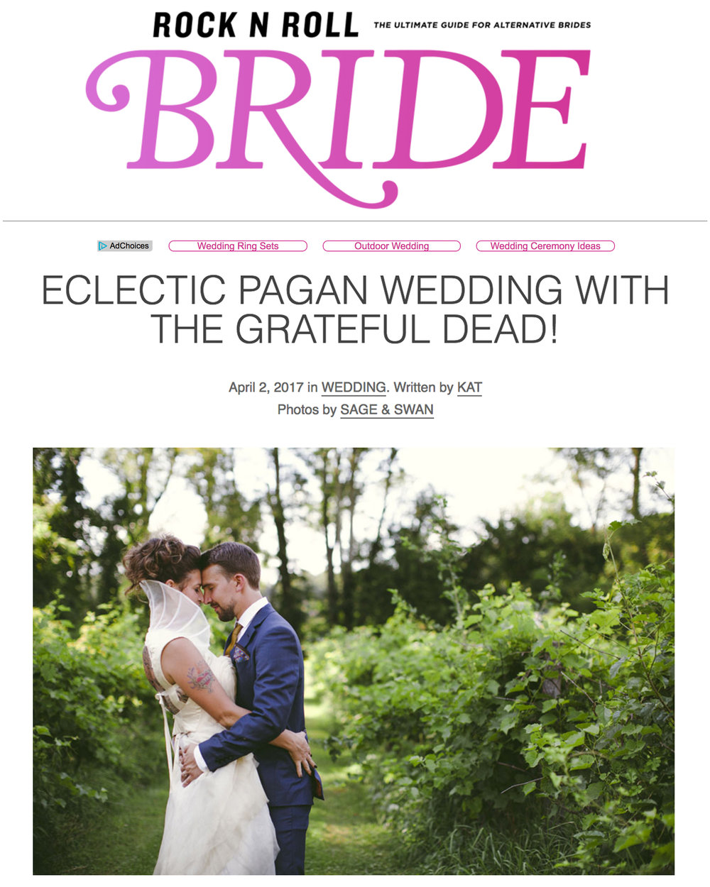 Rock N Roll Bride - April 2017