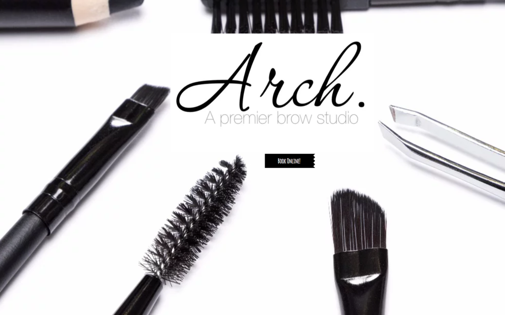 Current brand identity for Arch that we will be totally revamping
