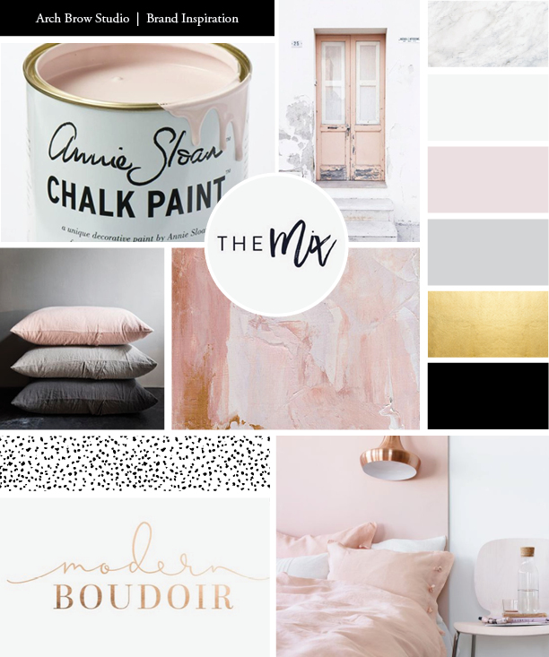 Obsessed with this one. Love the blush mixed with black, white, and grays.