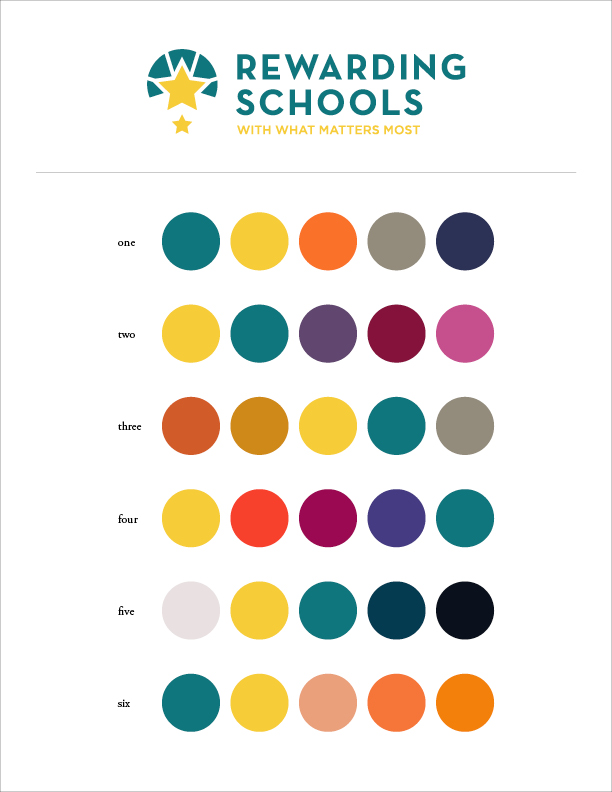 Rewarding Schools Color Palettes