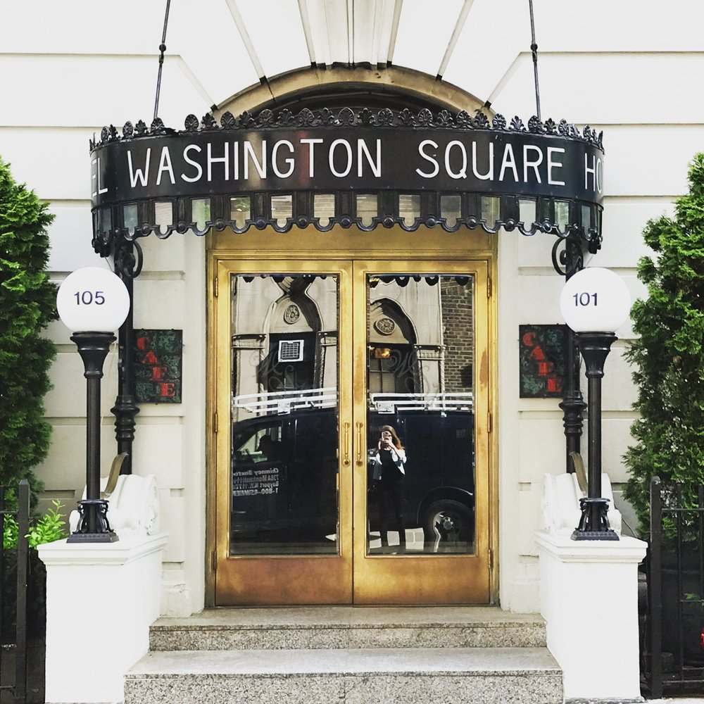 This gem, the  Washington Square Hotel was just a block from our Air BNB in Greenwich village.I'm a sucker for gold doors. (Well gold anything for that matter.)