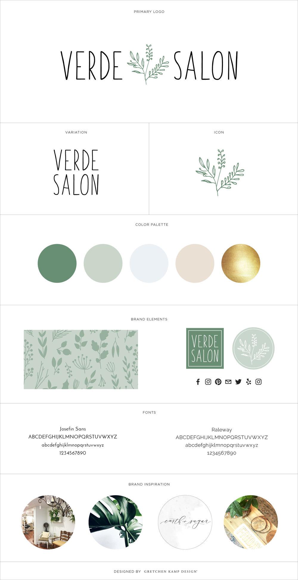 Verde Salon Brand Board