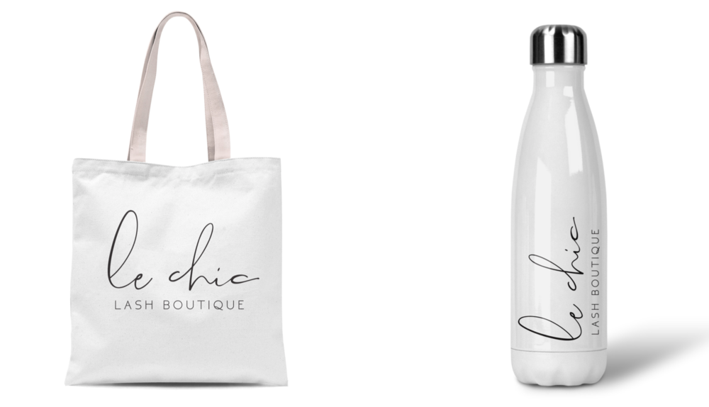 Tote and water bottle Le Chic Lash Boutique