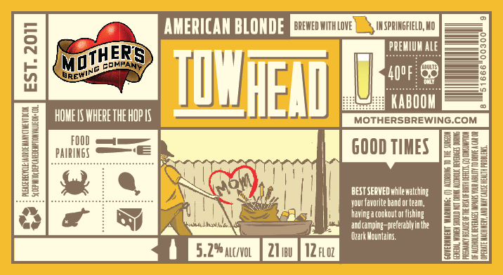 Towhead 12oz Label