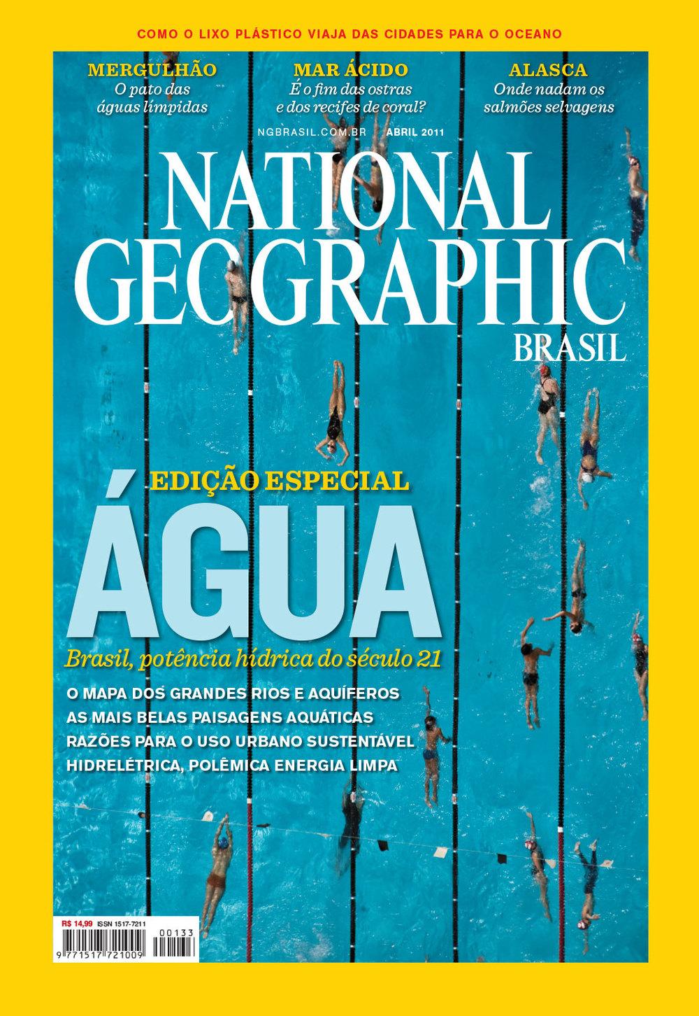 Edição de fotos e design de capa | NG Brasil, abril 2011. Foto de Cássio Vasconcellos
