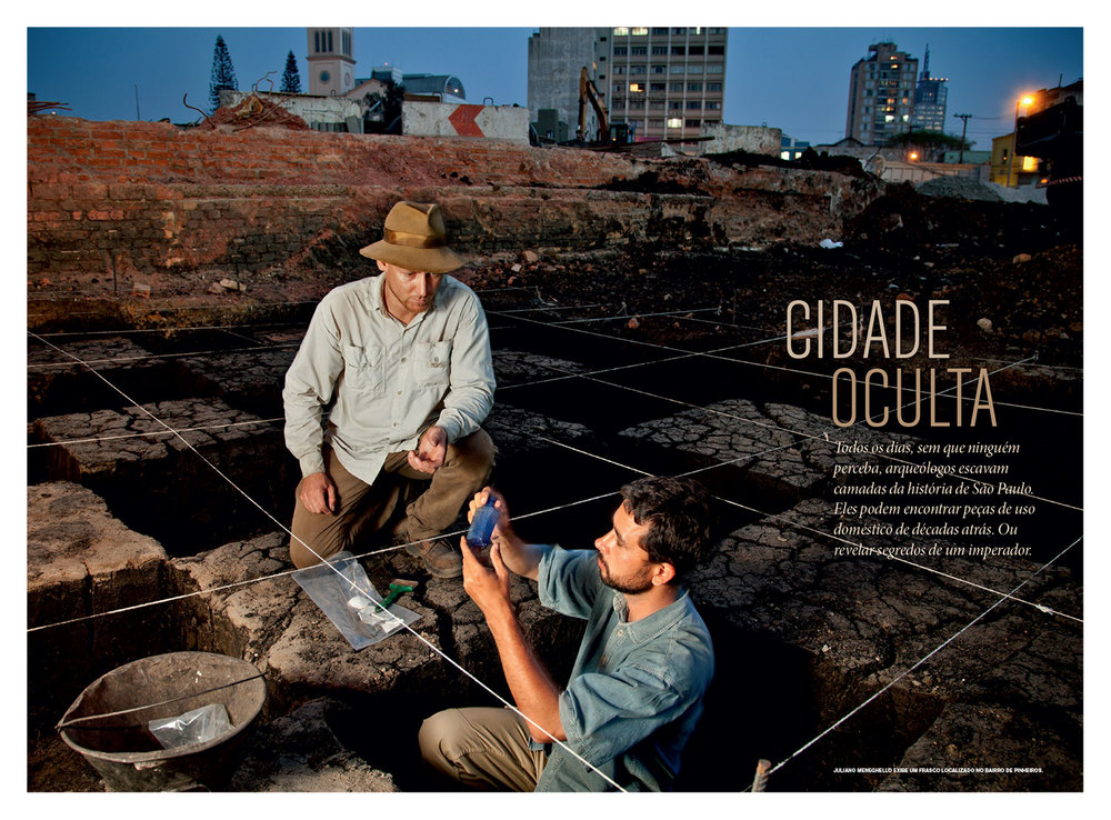 Photo Editing and Design for Feature  Cidade Oculta [Hidden City]  | National Geographic Brazil, April 2013. Photos by Maurício de Paiva