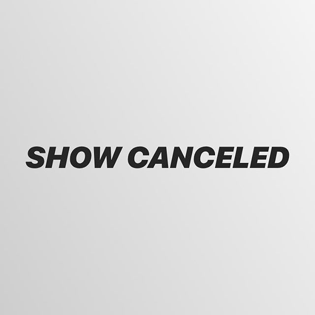 So sorry all but tonight's show at @oldcrowsmokehouseorange is canceled!!! We are so dang bummed!!! We will be back soooooooon... 😓😭😍