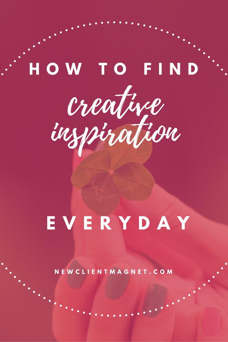 find creative inspiration everyday