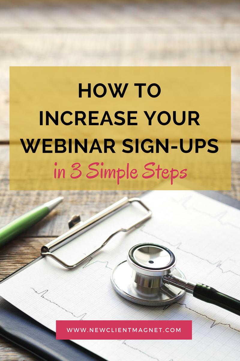 increase your webinar signups
