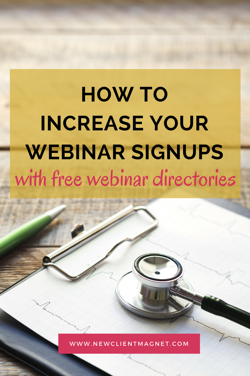 Get more webinar sign-ups with webinar directories.
