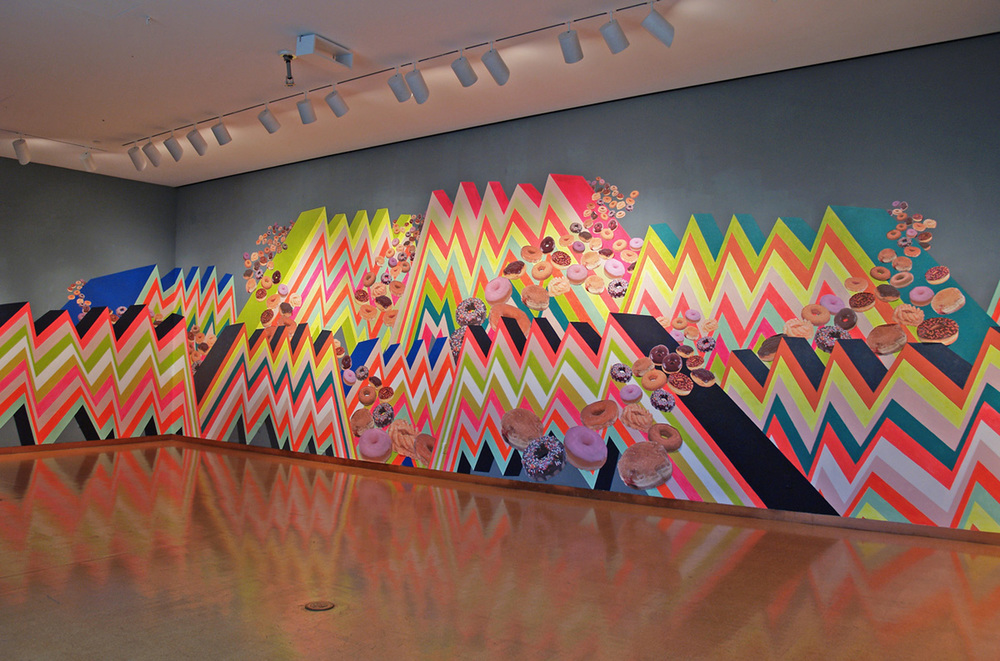 P A N O R A M A , 2013  Paint and collage installation  16' x 84'  CVA Gallery, University of Toledo