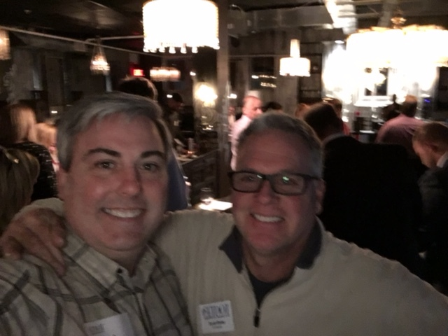 Scott Boles, Co-Founder of GETDOT and Owner of Yabo's Tacos and I at tonight's event. A bit blurry pic, but worthy of publishing.