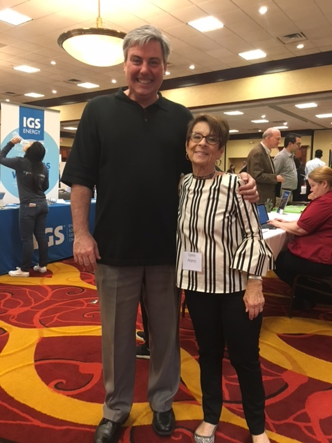 Lynn and I at yesterday's Easton Job Fair. She and her team put on the best job fair in Columbus.