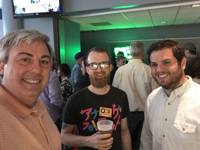 Bryan Vogel (Center) and Daniel Moyal (Right) and I at last night's CSCA event.