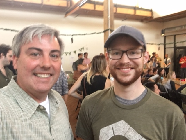 Cory Oakley, CSCA Co-President and I at last night's Pinewood Derby 2017.