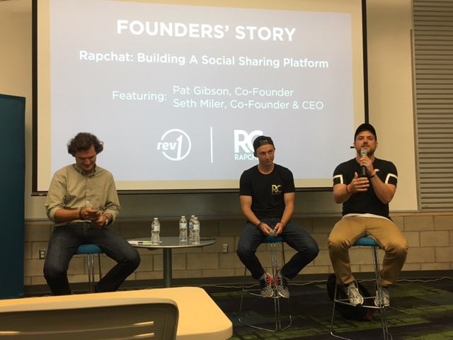 Rapchat's Pat Gibson, Co-Founder (far right) & Seth Miller, Co-Founder & CEO (center).