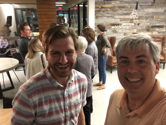Mark Pasternack, Owner + CEO of Jump Goat and I at last night's event. You can sort of see Molly.