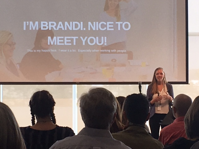 Brandi Lust was this month's speaker at Creative Mornings/Columbus held at the Columbus Museum of Art.