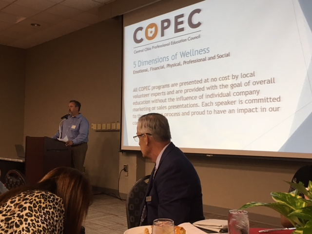 COPEC's President & Board Chairman, Jay Lindner addresses the luncheon crowd.