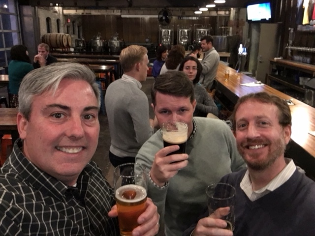 Mark Weiss  &  Jason Duignan  are peers drinking beers with me last night at Platform Beer Co.