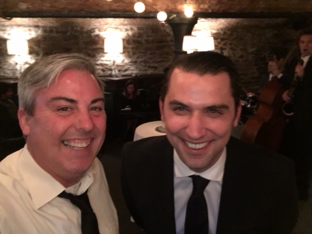 Alessandro Ciaffoncini, VP Accounts Director at Origo Branding was exceptionally funny at last night's party the moment this picture was taken. My exceptionally hard laugh was a result of his perfect timing.