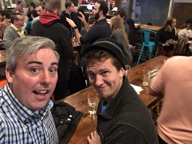 Alex Bell  and I at CWG's event at Platform Beer Co. last night.