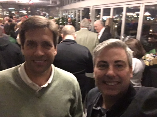 Dave Sliwinski and I at last night's GETDOT event at Juniper Rooftop.