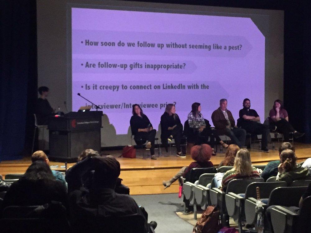 Last night's event at the Columbus College of Art & Design.