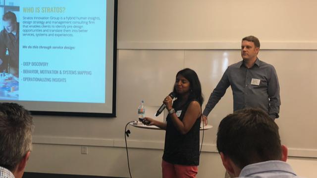 Monica Weiler & Anthony Weiler presenting at last night's IxDA Columbus Meetup.