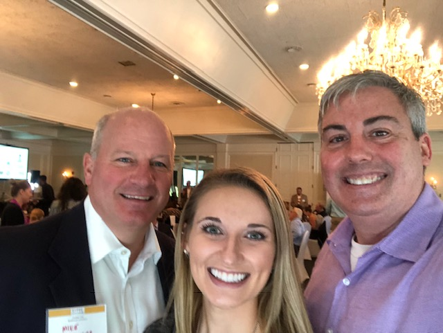 Michael Schoedinger, President of Schoedinger Funeral & Cremation Service and Carley Childress, Human Resources Generalist with Schoedinger and I at today's event.