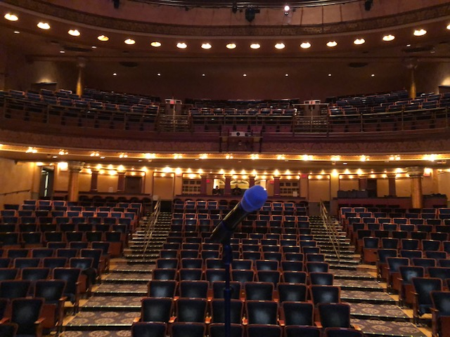 I got a shot from the stage as part of the tour of the Southern Theater.