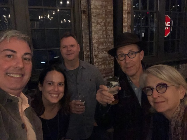Beers with my peers (from left to right) Bethany Beaman, President of AAF Columbus & Account Leader at treetree along with a trio from Fechtor Advertising: Dave Rogers, Creative Director, Stephen Fechtor, Founder & President and Amy Thompson, Writer/Producer/Project Manager.