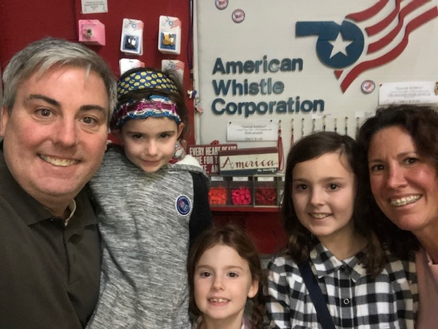 Our family toured the American Whistle Corporation.