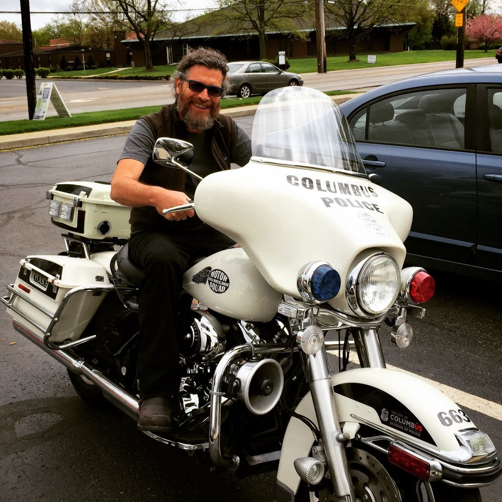 Don Lee is featured in our newsletter this month. He's not a cop. He loves motorcycles.
