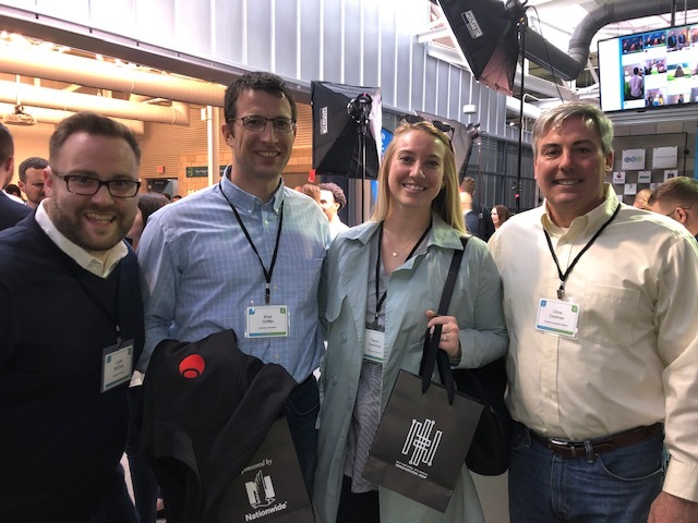 Buckeye Interactive  and I posing for a pic at yesterday's event (L-R): Collin McCarty, Brad Griffith, Taylor Cochran)