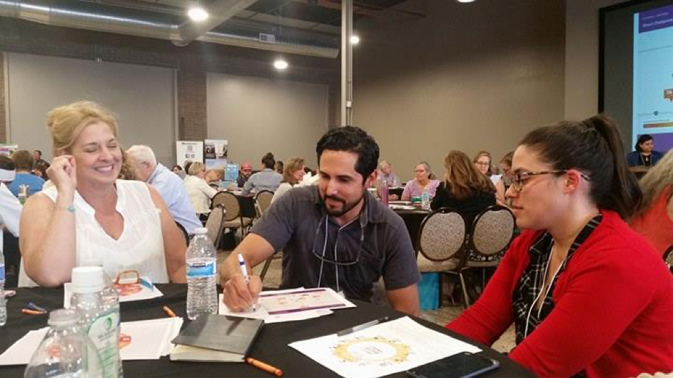 Summit attendees try to reach a consensus on what they think makes up a healthy community
