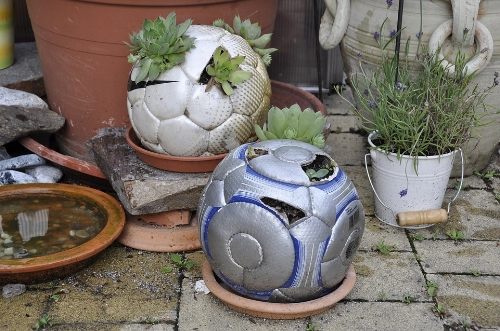 A creative up cycling idea that takes deflated soccer balls and uses them for planters! Show us your most creative ideas by using our hashtag.