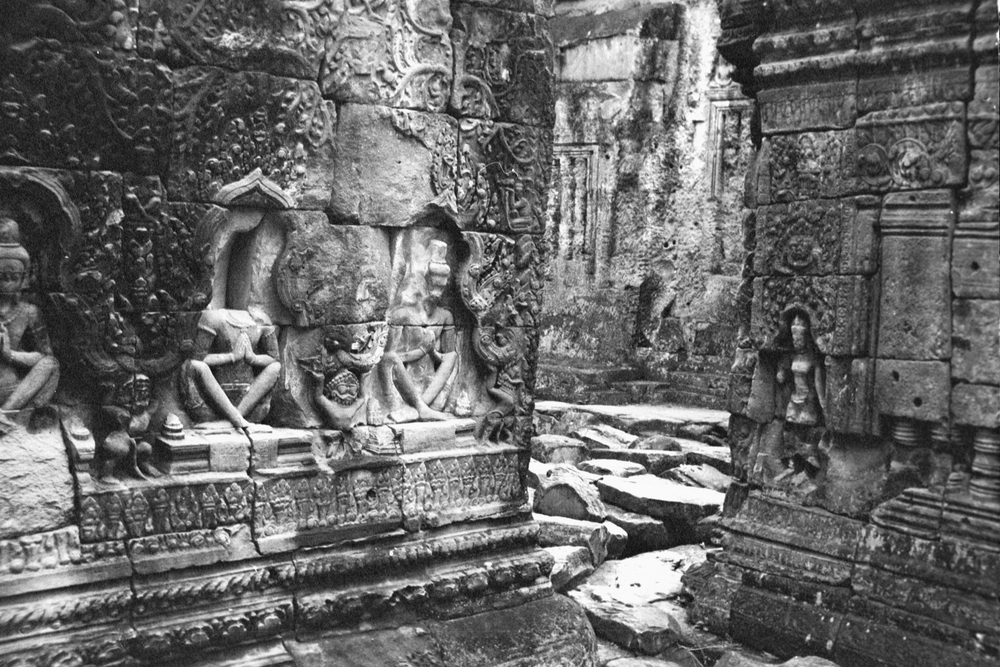 The scars of temple looting, Cambodia, 2001 Image courtesy of SKY
