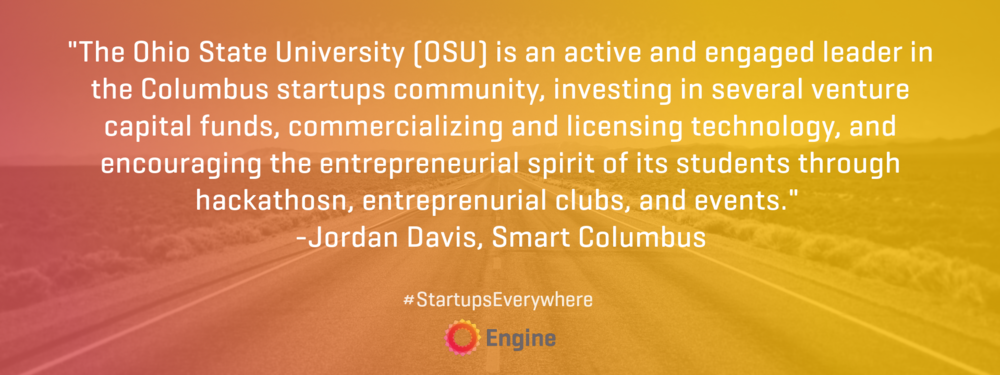 Startupseverywhere jordan davis columbus oh engine who are the primary drivers of entrepreneurism and innovation in your community how have they supported startups in columbus are their limits to their malvernweather Choice Image