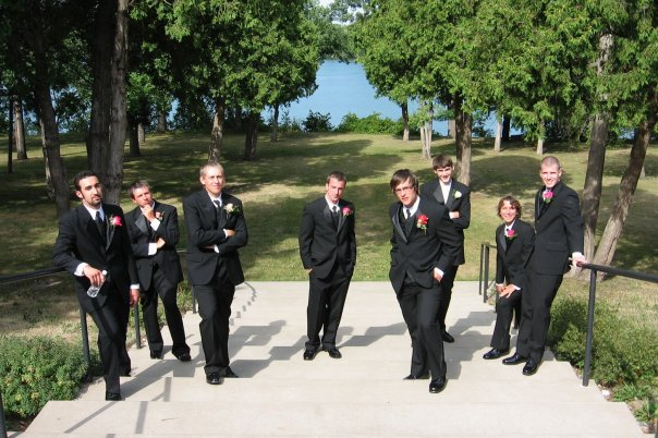 Me & my groomsmen ten years ago thinking we were cool
