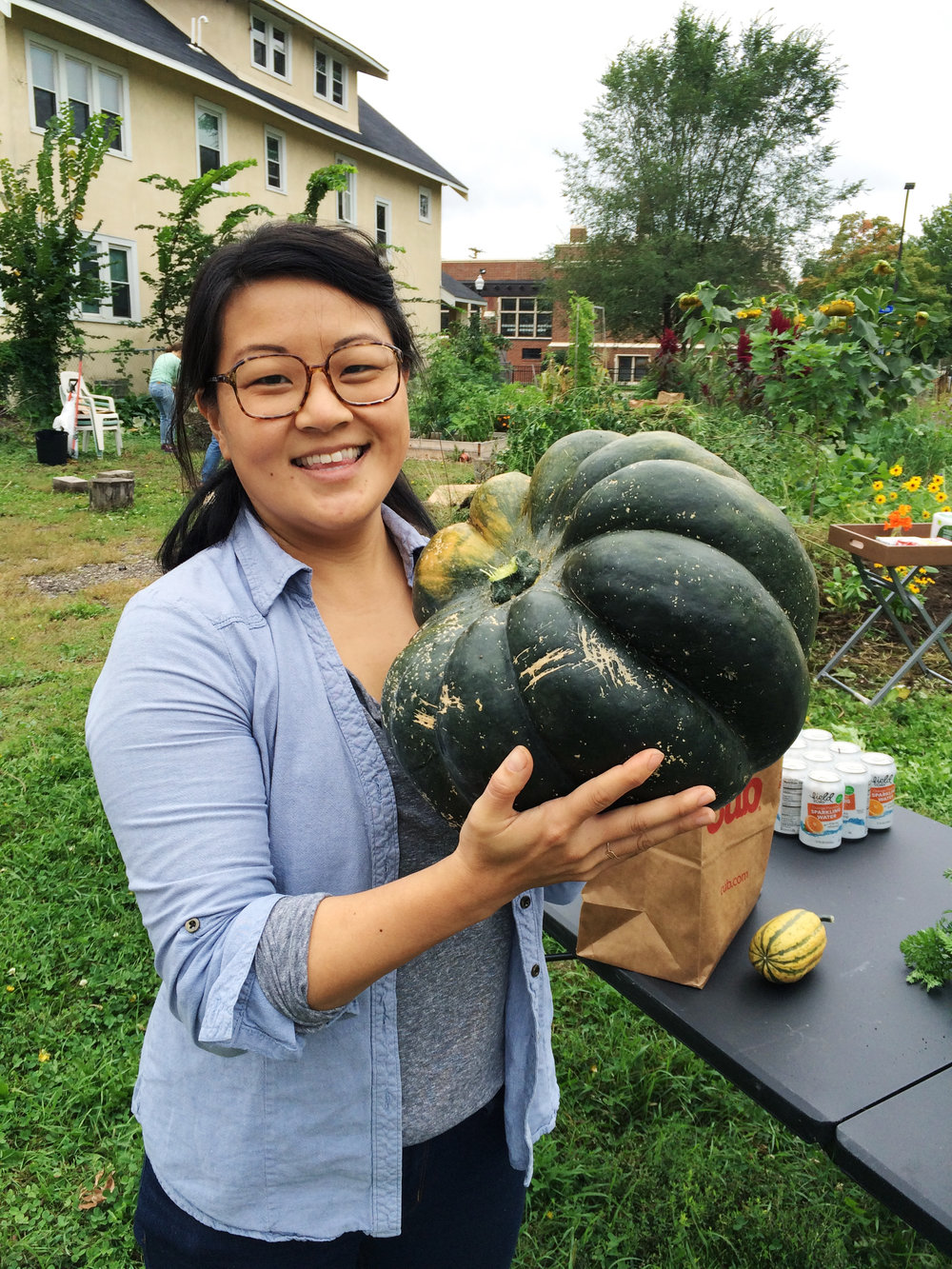 Check out this GIGANTIC squash that the Little Free Farmers Market crew harvested and gave away!
