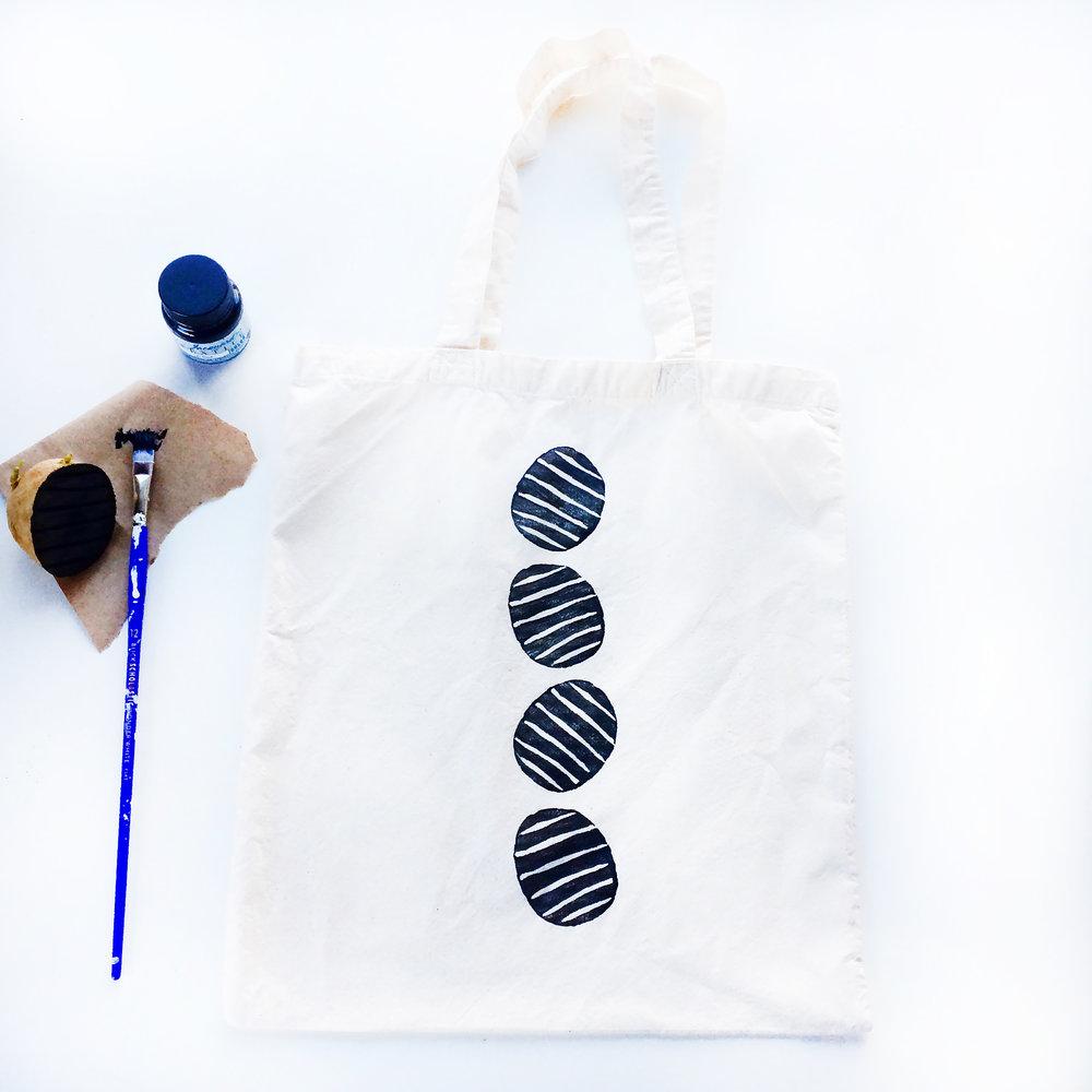 Potato Printing Tote Bag