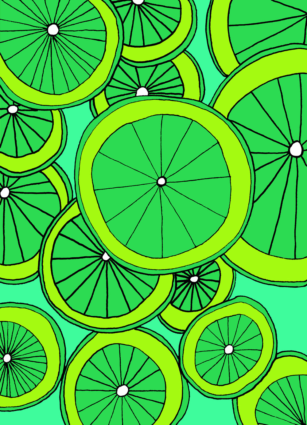Limes Illustration by Emma Freeman Designs