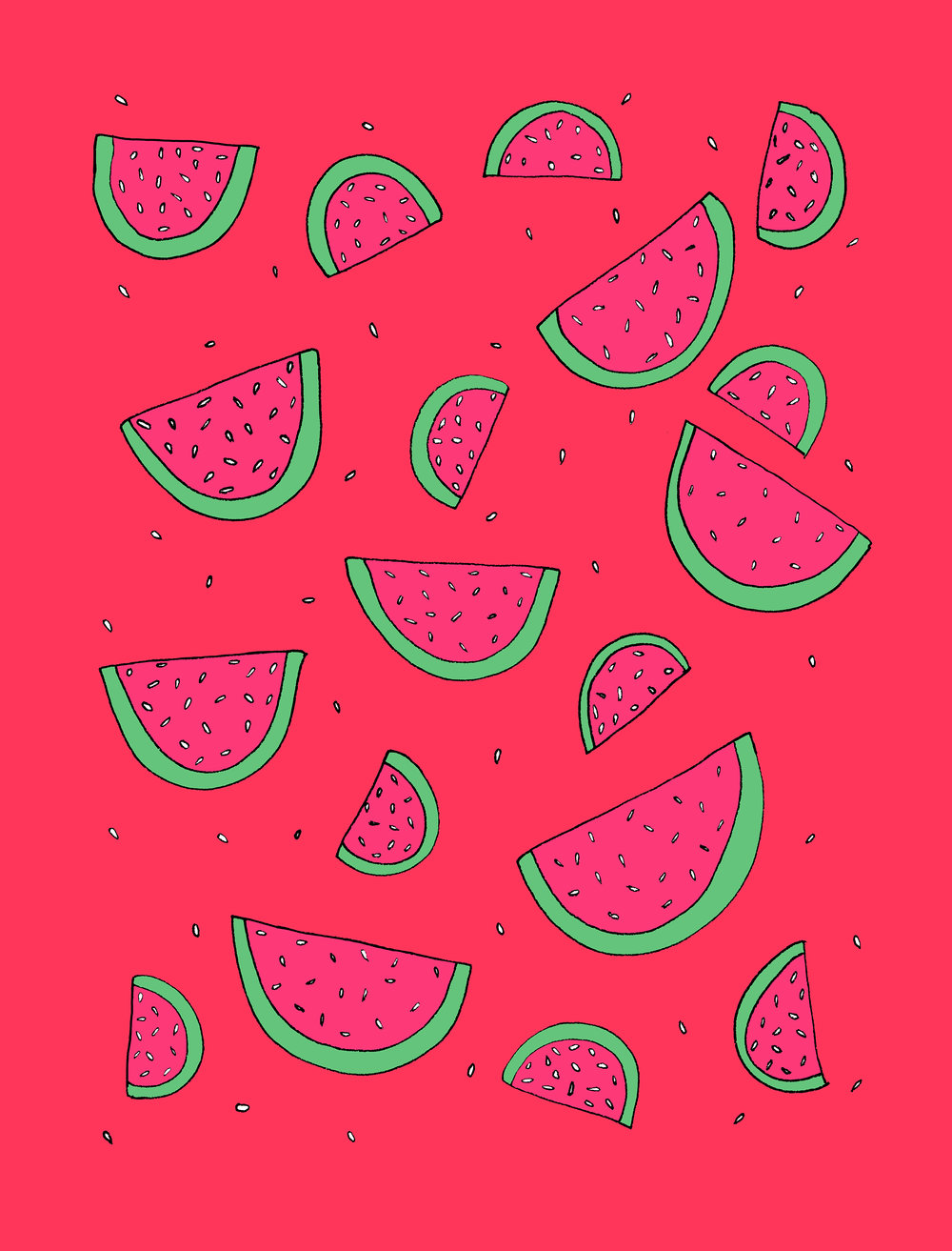 Watermelons Illustration by Emma Freeman Designs