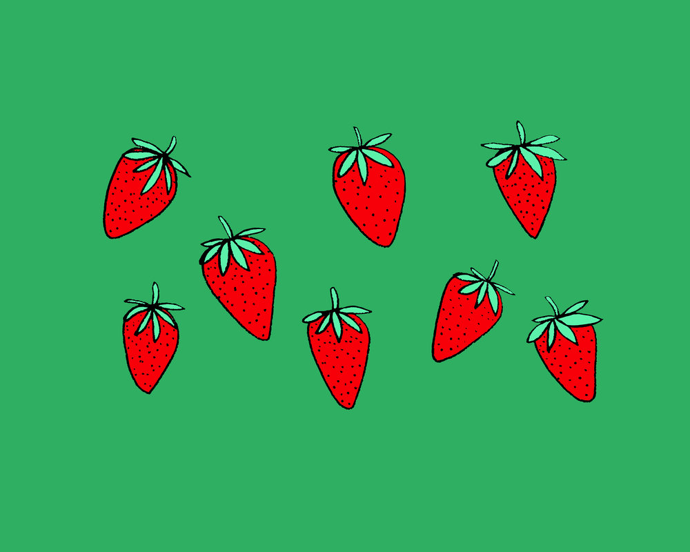 Strawberries Illustration by Emma Freeman Designs