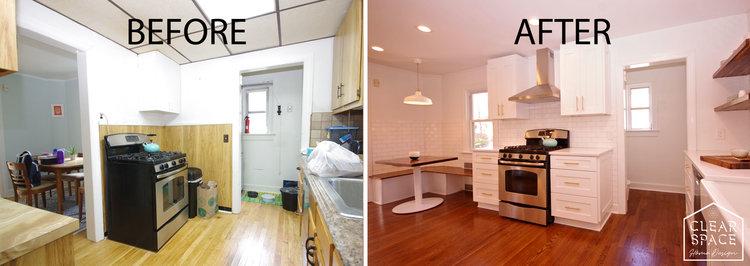 Minimalist Montclair Kitchen Clear Space