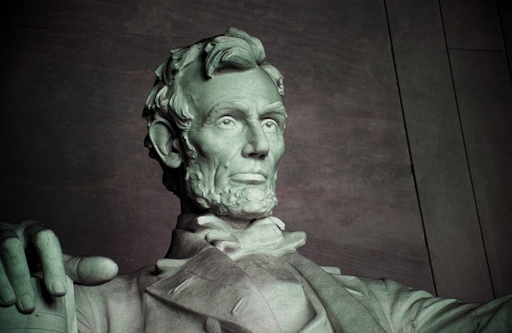 Statue of Abraham Lincoln from the Lincoln Memorial